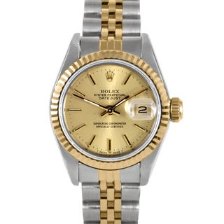 Pre-Owned Rolex Women's Two-Tone Datejust Watch with Champagne Dial