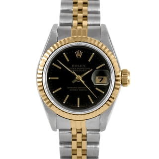 Pre-Owned Rolex Women's Two-Tone Datejust Watch with Folding Clasp