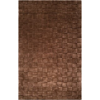 Handcrafted Solid Casual Iowa Basket Weave Patterned Zealand Wool Accent Rug (2' x 3')