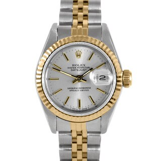 Pre-Owned Rolex Women's Two-Tone Datejust Watch with Gold Bezel