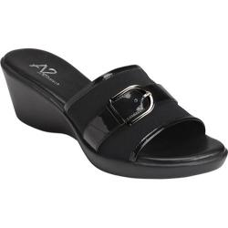 Women's A2 by Aerosoles Eyes On You Black Stretch Wedge