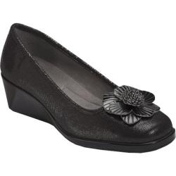 Women's A2 by Aerosoles System Black Lizard Fabric/Patent