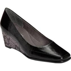 Women's Aerosoles Barecuda Black Faux Snake