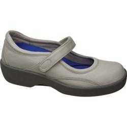 Women's Aetrex Ambulator Biomechanical Mary Jane Taupe Leather