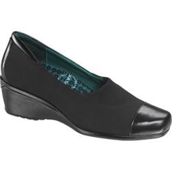 Women's Aetrex Andrea Pump Black Stretch