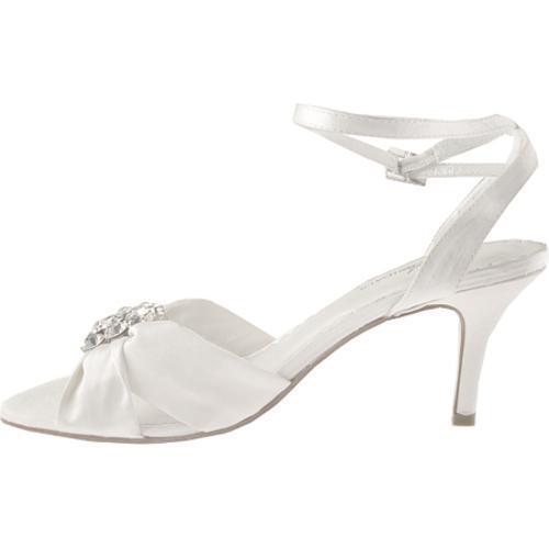 Women's Allure Bridals Darling Diamond White Silk Satin