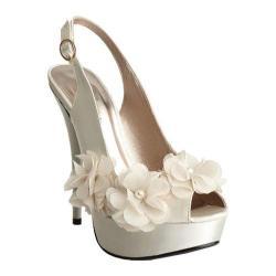 Women's Allure Bridals Glass Ivory Silk Satin