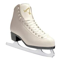 Girls' American 514 Leather Lined Figure Skate White
