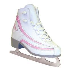 Girls' American 516 Softboot Figure Skate White/Pink