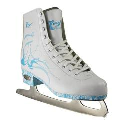 Women's American 532 Lightblue Figure Skate White