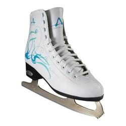 Women's American 533 Lightblue Figure Skate White