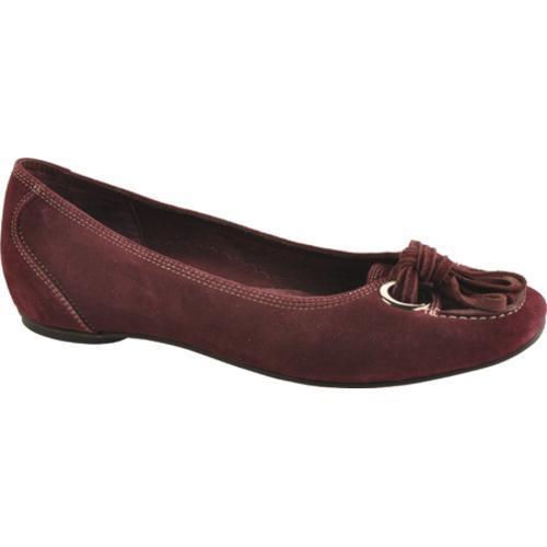Women's Antia Shoes Barbara Wine Kid Suede