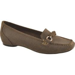 Women's Antia Shoes Beatriz Mocha Embossed Snake