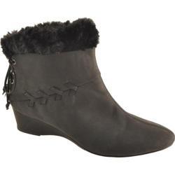 Women's Antia Shoes Cassandra Black Vintage Leather/Suede
