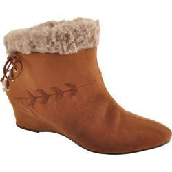 Women's Antia Shoes Cassandra Cognac Vintage Leather/Suede