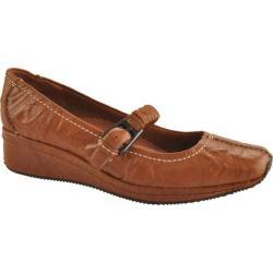 Women's Antia Shoes Grace Cognac Veg Crunch Full Grain Leather