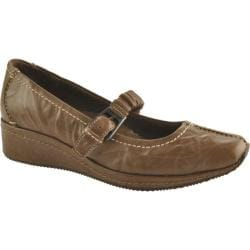 Women's Antia Shoes Grace Mocha Veg Crunch Full Grain Leather