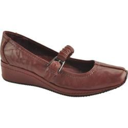 Women's Antia Shoes Grace Wine Veg Crunch Full Grain Leather
