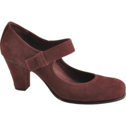Women's Antia Shoes Maribel Wine Calf Tumbled Nubuck
