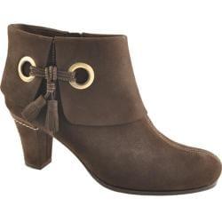 Women's Antia Shoes Marisa Mocha Calf Tumbled Nubuck