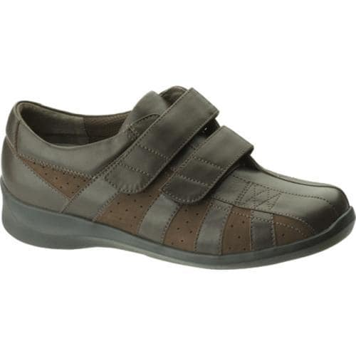 Women's Apex Essence Striped 2 Strap Brown Leather/Suede