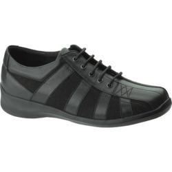 Women's Apex Essence Striped Oxford Black Leather/Suede