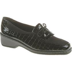 Women's ara 41121 Black Croco Nubuck