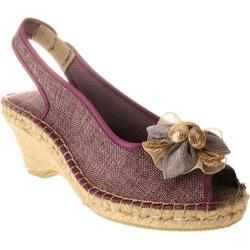 Women's Azura Organza Purple Textile