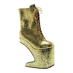 Women's Bettie Page Chablis Gold Glitter