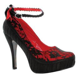 Women's Bettie Page Missy Black/Red