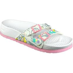 Women's California Footwear Co. Del Mar White/Pink Floral