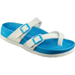 Women's California Footwear Co. Hermosa White/Blue