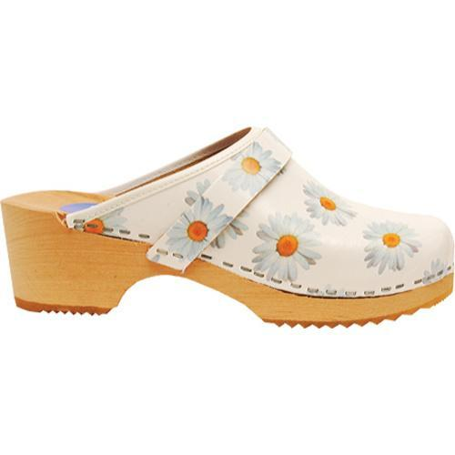 Women's Cape Clogs Daisy White