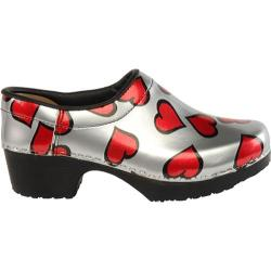 Women's Cape Clogs Hearts Red/Silver