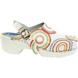 Women's Cape Clogs Lollipop Adjustable White/Multicolored