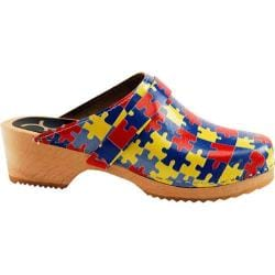 Women's Cape Clogs Puzzle Piece Multi Yellow/Red/Blues