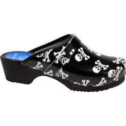 Cape Clogs Skulls Black/White