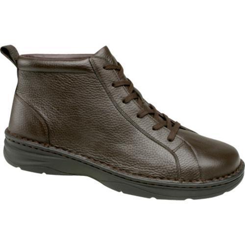 Men's Drew Hilliard Dark Brown Pebbled Leather