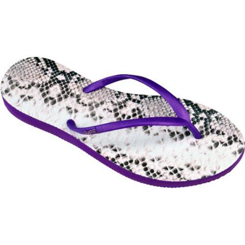 Women's Dupe Exotica (2 Pairs) Purple/Snake