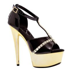 Women's Ellie Jayda-609 Black/Gold PU
