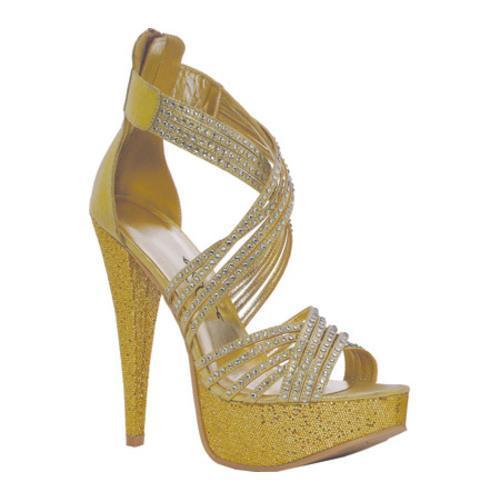 Women's Ellie Mia Gold Metallic Fabric