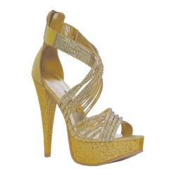 Women's Ellie Mia Gold Metallic Fabric