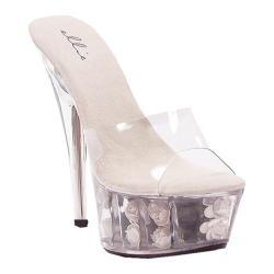 Women's Ellie Roses-609 White Plastic