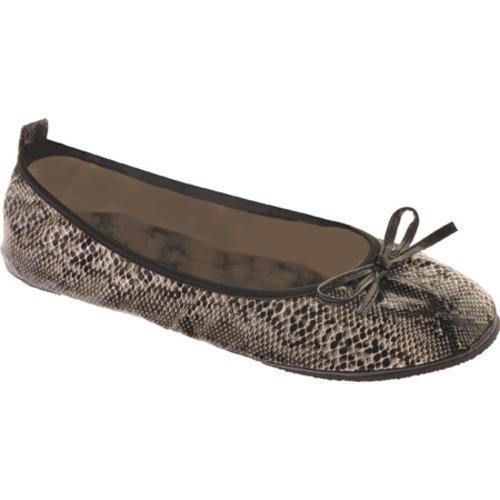 Women's Snakeskin Portable Shoes Diamond Black Snakeskin