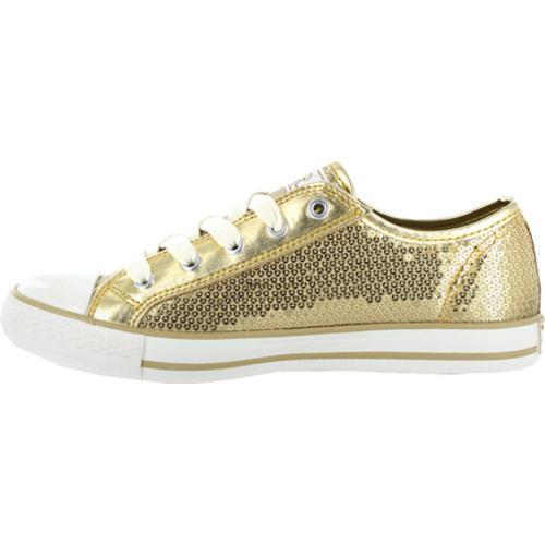 Women's Gotta Flurt Disco Gold Textile/Sequin