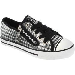 Women's Gotta Flurt Lenwood llll Black/White Plaid Canvas