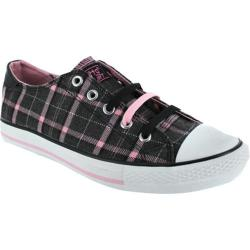 Women's Gotta Flurt TwistMe Katie Pink Plaid/Black Canvas