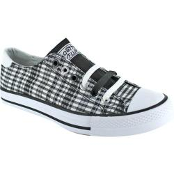 Women's Gotta Flurt Twisty Plaid Black/White Plaid Canvas