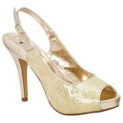 Women's Lava Shoes Heidi Gold Sequins