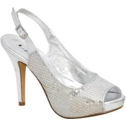 Women's Lava Shoes Heidi Silver Sequins